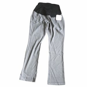 Isabel maternity gray crossover panel pants 6